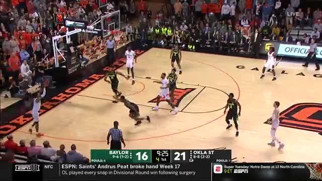 mla313, College Basketball: Baylor at Oklahoma State | ESPN U | Clippit GIFs