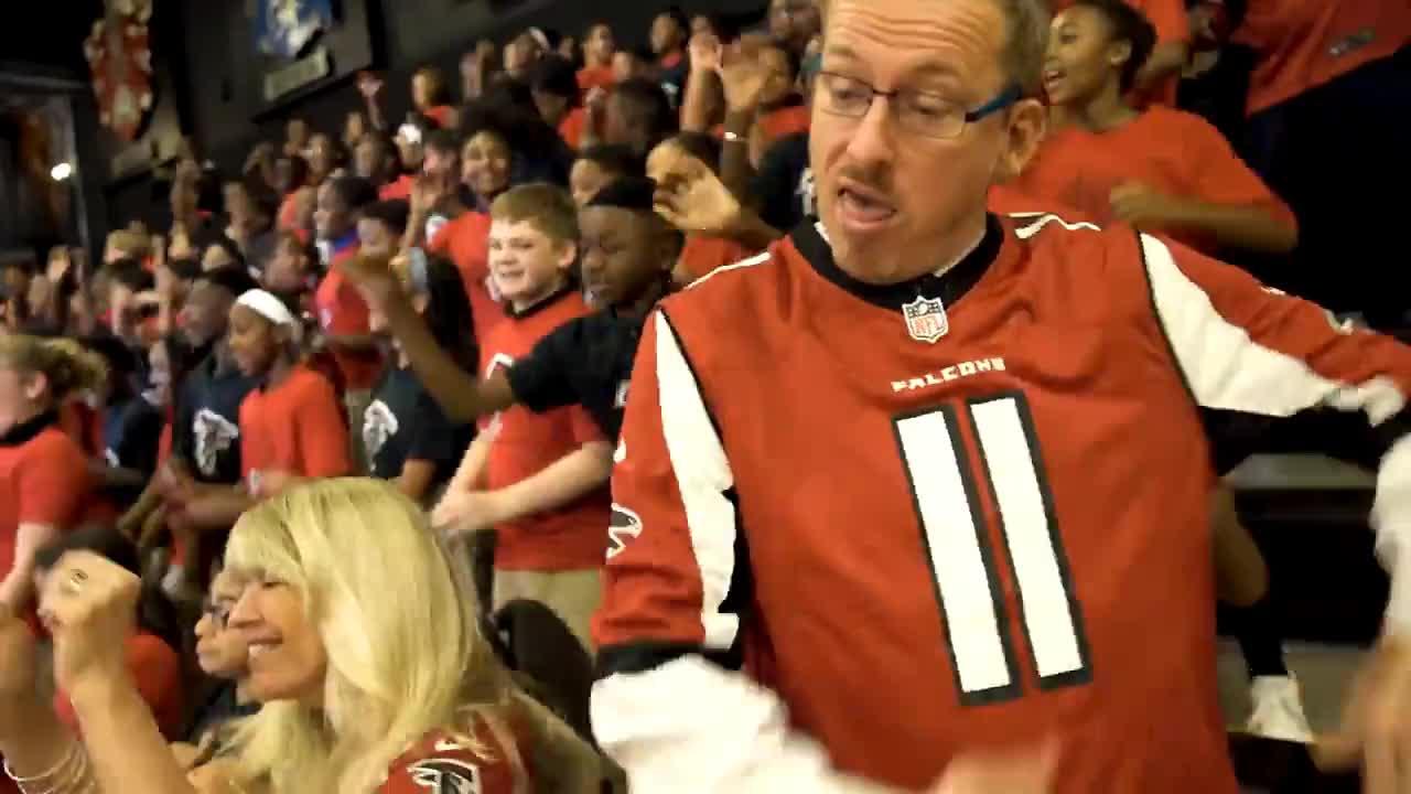 Bottoms, Football, Friday, Kiesha, Mayor, Message, Ron, atlanta, clark, dancing, declare, important, inbrotherhood, kids, nfl, Atlanta Mayor Kiesha Bottoms has an important message for Falcons fans GIFs