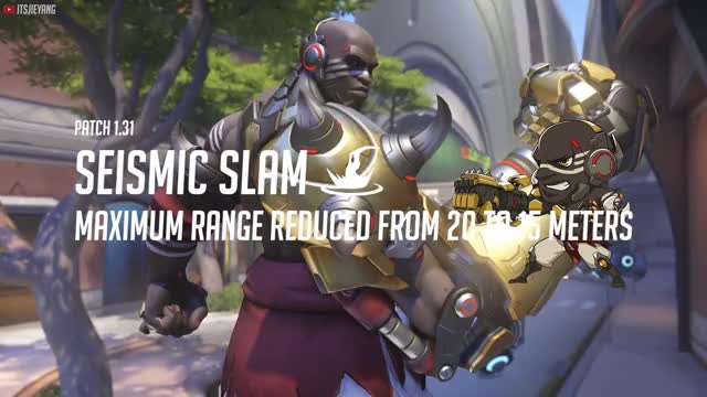 Watch Overwatch Patch 1.31 Doomfist Seismic Slam Distance Nerf GIF by itsjieyang (@its_southpaw) on Gfycat. Discover more doomfist, highlight, overwatch, patch GIFs on Gfycat