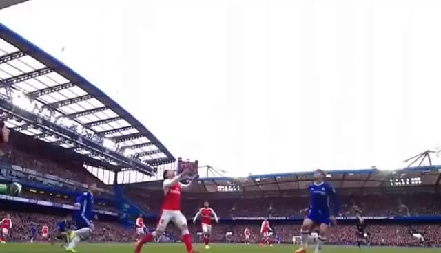 Watch and share Alonso's Header Against  Arsenal GIFs on Gfycat
