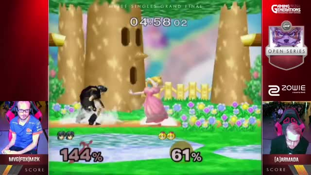Watch UGC Smash | MVG|FOX|Mew2King (Marth) v [A]rmada (Peach) - Singles Grand Finals GIF by @champ0o on Gfycat. Discover more related GIFs on Gfycat