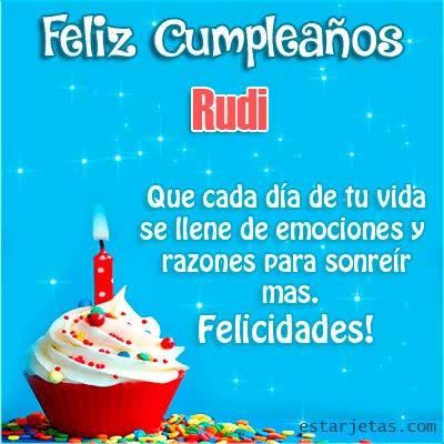 Watch and share Feliz Cumpleaños Rudi Que Cada Día De Tu Vida Se Llene De Emociones Y Razones Para Sonreír Mas. Felicidades GIFs on Gfycat