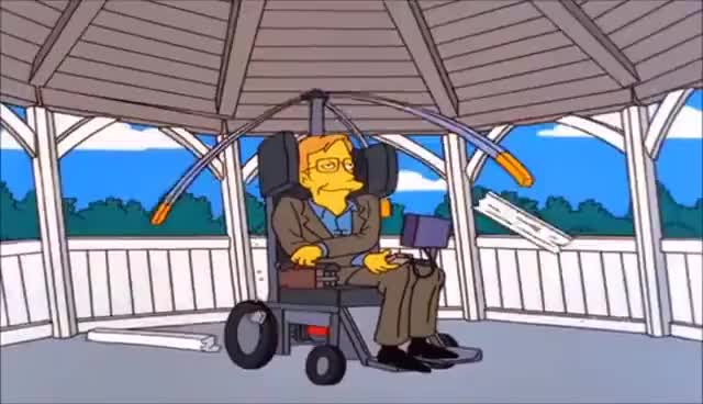 Watch and share Los Simpsons - Stephen Hawking Salva La Vida De Lisa GIFs on Gfycat