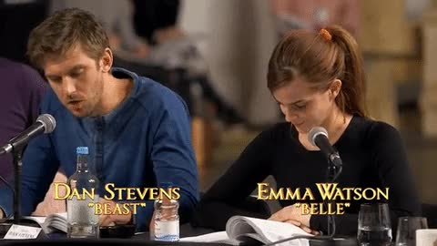 Watch and share Watch Emma Watson Reading Her Lines As Beauty And The Beast's Belle | Metro News GIFs on Gfycat