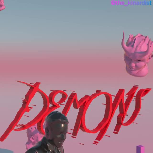 Watch Demons GIF by J.B. Kinard (@thekinardist) on Gfycat. Discover more 3DART, 3DMotion, cinema4D, motiondesign, thekinardist, typography GIFs on Gfycat
