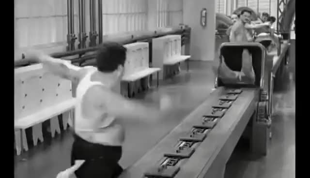 Watch and share Charlie Chaplin. Tempi Moderni (1936) GIFs on Gfycat
