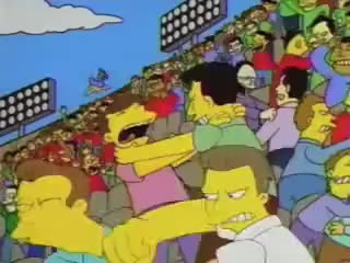 Watch and share The Simpsons Soccer Riot GIFs on Gfycat