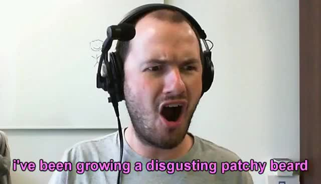 Sips patchy beard