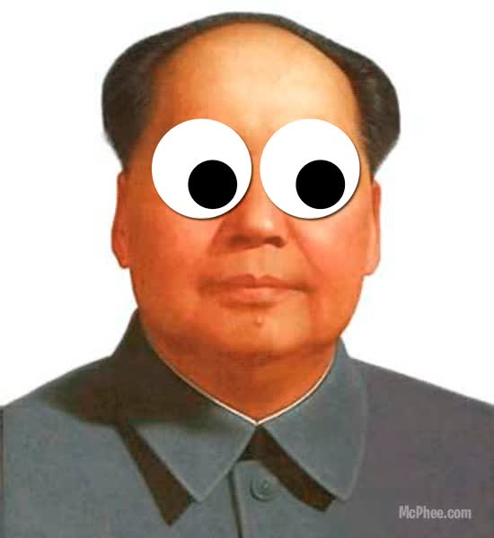 "Watch and share Mao ""Googly Eyes"" Zedong  Tags: Mao Mao Zedong Communist Googly Eyes Googly Eyes Lol Gif Funny GIFs on Gfycat"