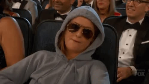 amy poehler, dgaf, hood up, hoodie, national sunglasses day, sunglasses, thug life, too cool, unbothered, whatever, Amy Poehler DGAF GIFs