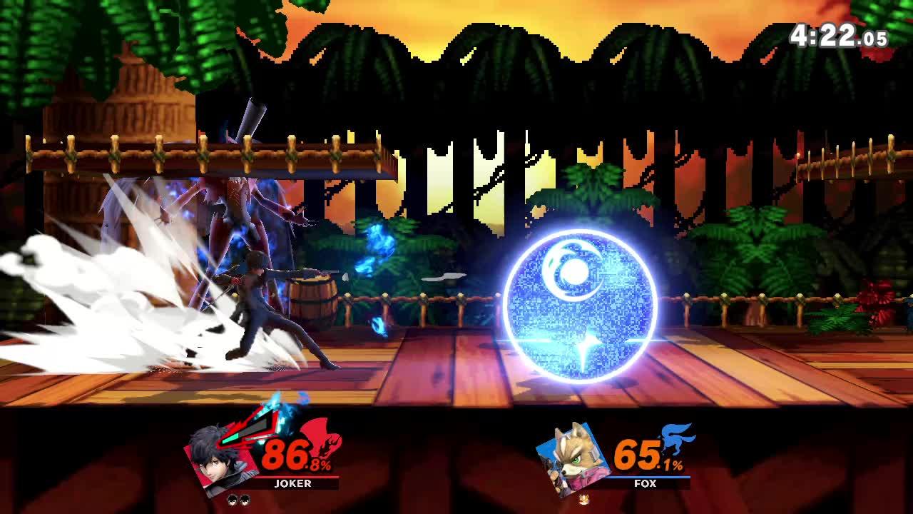 persona 5 smash, smash bros. switch, smash joker, ssbu, ssbu joker, super smash bros. ultimate, Jokers Guns to a trip tech chase kill GIFs