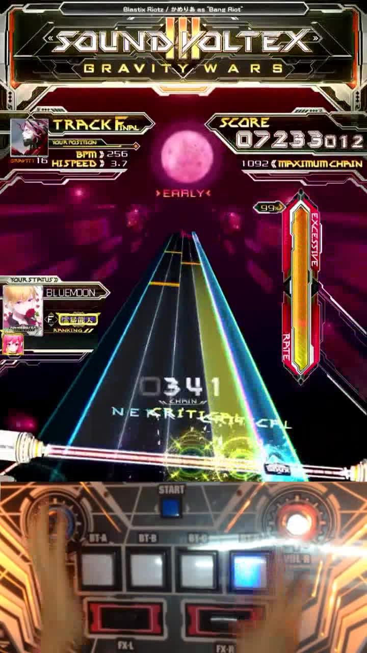 【 Sound Voltex III】 Blastix Riotz GRV With Hand Shot