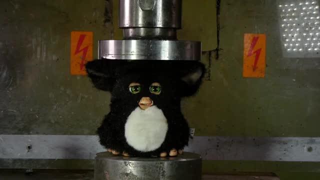 Watch Crushing Furby with Hydraulic Press GIF by @polygon on Gfycat. Discover more hydraulic press, hydraulic press channel, hydraulicpresschannel GIFs on Gfycat
