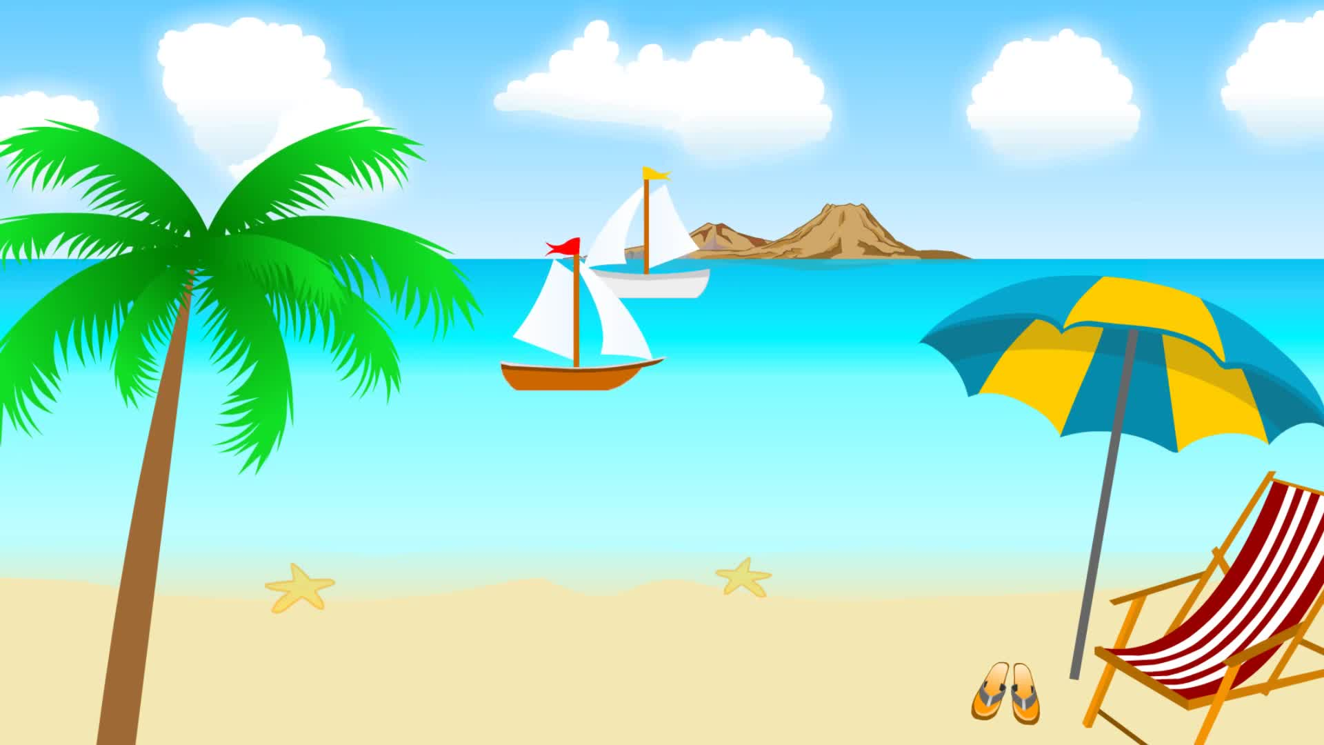Картинки лето пляж нарисованные, мужу