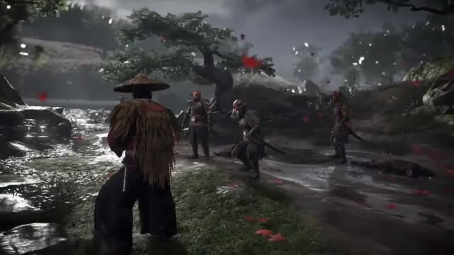 Watch GHOST OF TSUSHIMA Gameplay Trailer (E3 2018) GIF on Gfycat. Discover more E3, Game, GamePlay, PS4, ghost, iaido, samourai, trailer, tsushima, video GIFs on Gfycat