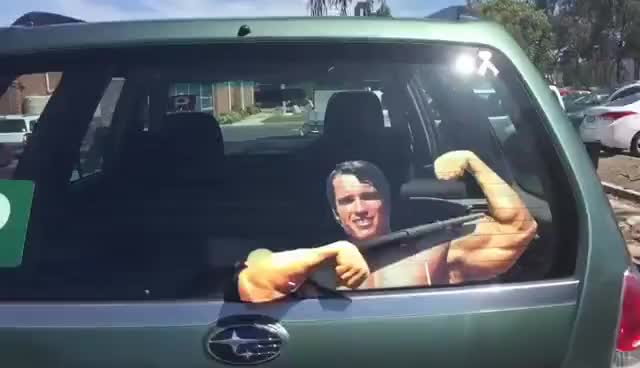 Watch and share Arnold Schwarzenegger Windscreen Wiper GIFs on Gfycat