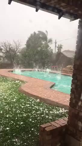 Watch and share Tennisball Size Hail Storm In Johannesburg GIFs on Gfycat