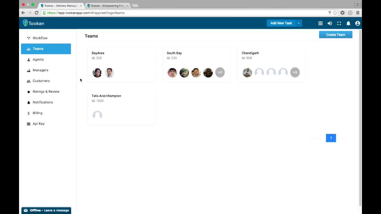 add an agent, Tookan - Admin Dashboard Overview GIFs