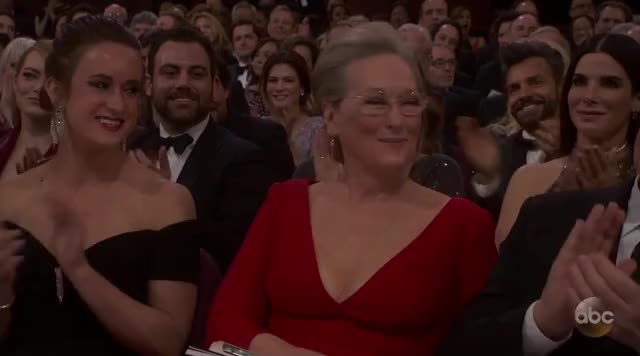 Watch Meryl Streep Oscars 2018 GIF by GIF Reactions (@visualecho) on Gfycat. Discover more Meryl Streep, Oscars, Oscars 2018, Oscars2018, sandra bullock GIFs on Gfycat