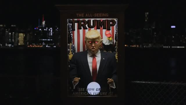 "Watch The All-Seeing Trump – ""Abortion"" GIF on Gfycat. Discover more Hillary, SNL, abortion, banksy, comedy, funny, future, hilarious, maga, misfortunes, nyc, politics, satire GIFs on Gfycat"