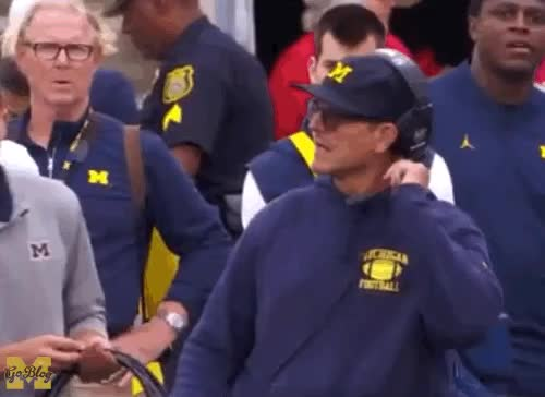 """Watch and share Jim Harbaugh """"Fuck Me"""" GIFs by nmombo12 on Gfycat"""
