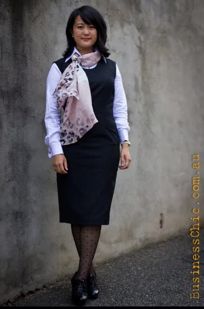 Watch and share Step 1. Start With Business Chic Basics Like A LBD And Crisp White Shirt; Note That A Pant Or Skirt Suit Will Also Work Well. GIFs on Gfycat