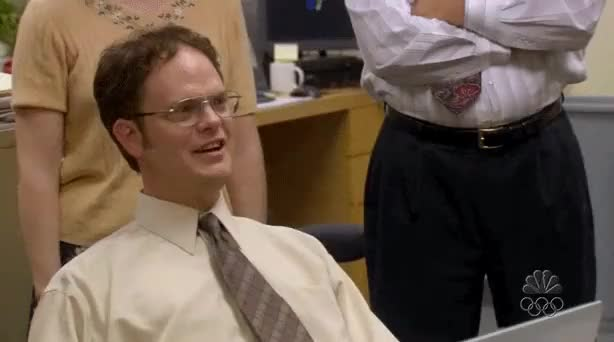 Watch and share Dwight Schrute GIFs and Rainn Wilson GIFs by posi_e on Gfycat