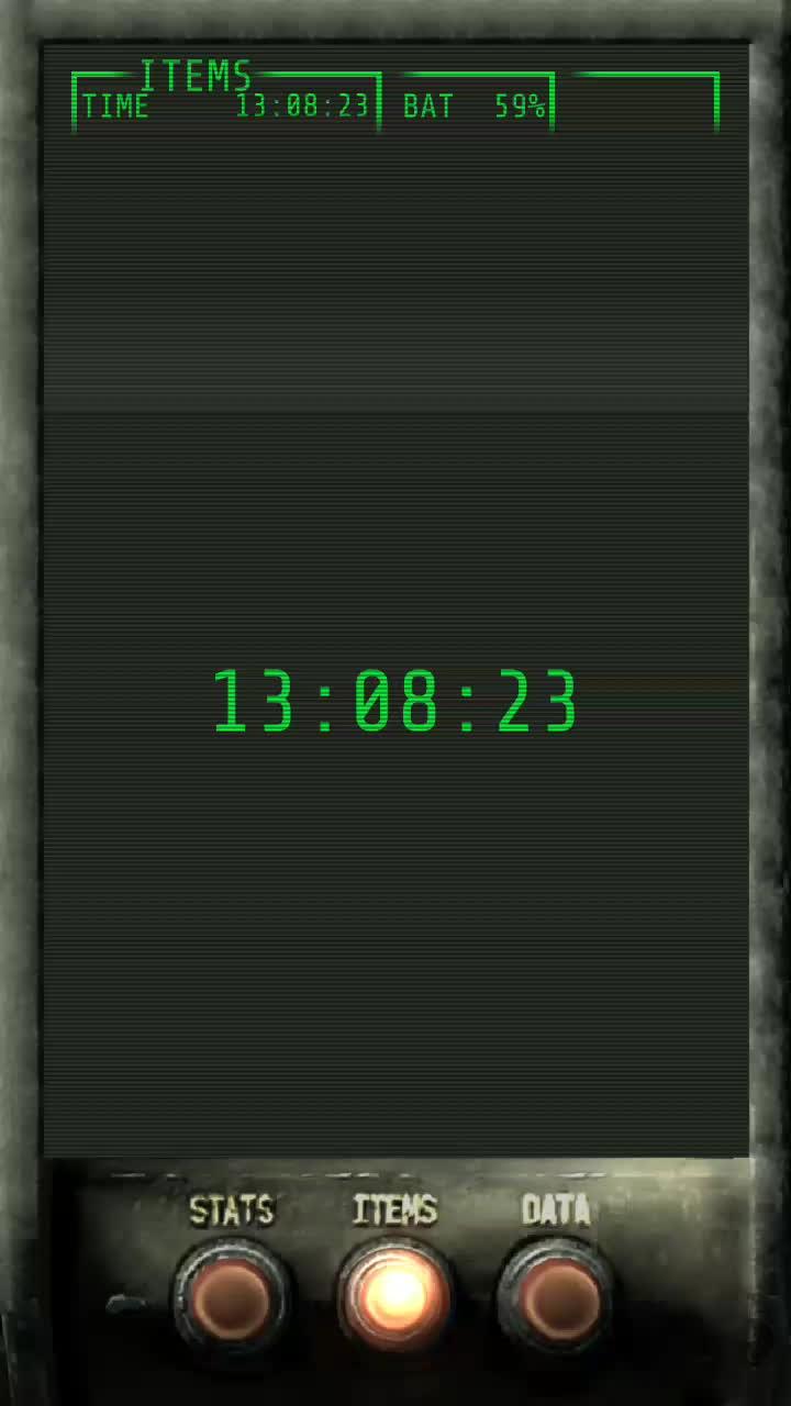 androidthemes, Pip Boy 3000 KLWP Theme Alpha GIFs