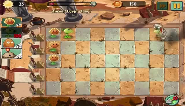 Watch and share Plants Vs Zombies 2: Ancient Egypt Day 1 Walkthrough GIFs on Gfycat