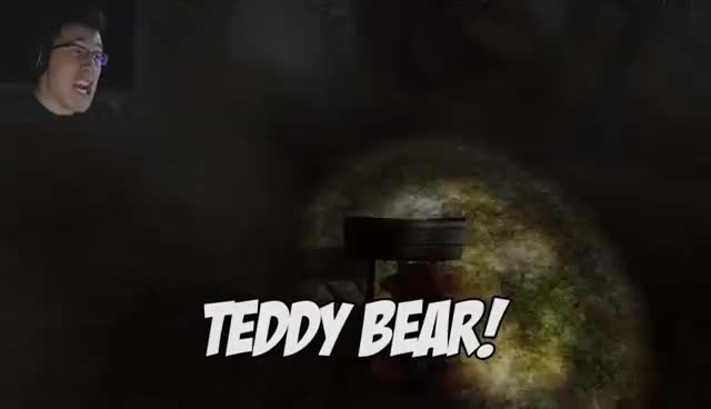 Markiplier, Teddy bear, horror games, TEDDY BEAR TELL ME YOUR SECRAAATS GIFs