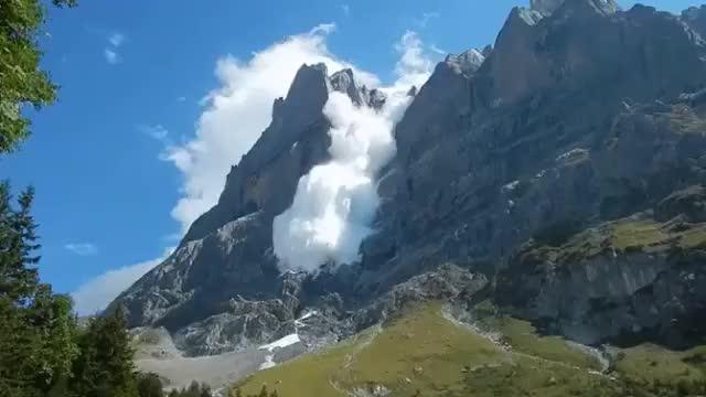Avalanche in Switzerland