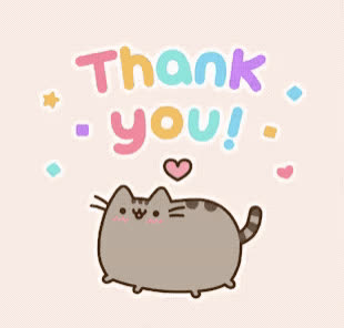 cat, cute, gracias, happy, merci, pusheen, sweet, thank, thanks, you, Thanks GIFs