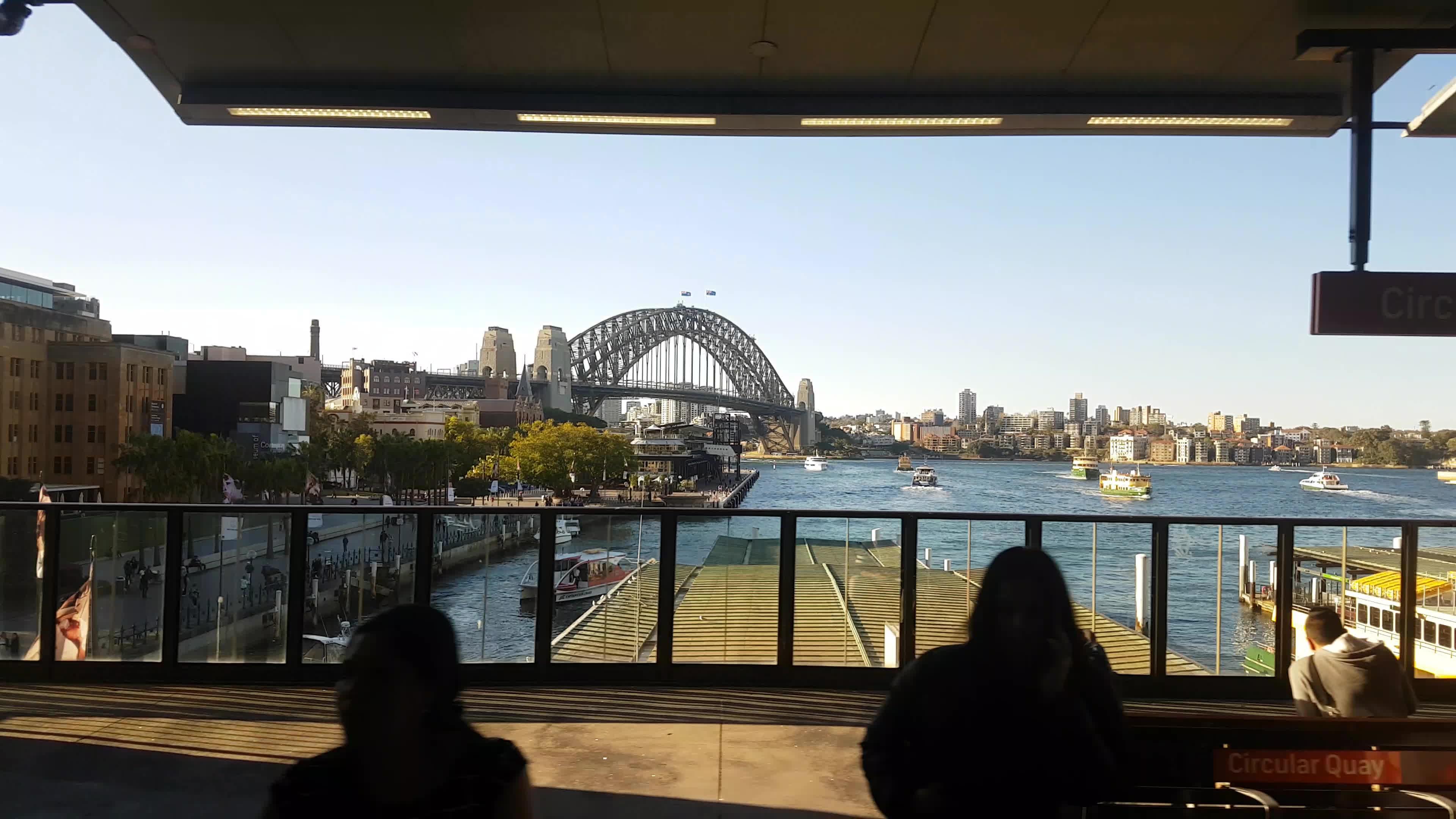 harbour bridge, sydney, train, Circular Quay, Sydney Australia GIFs