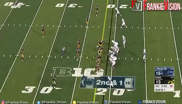 Watch Saquon Barkley Blows Up Iowa Defenders GIF on Gfycat. Discover more related GIFs on Gfycat