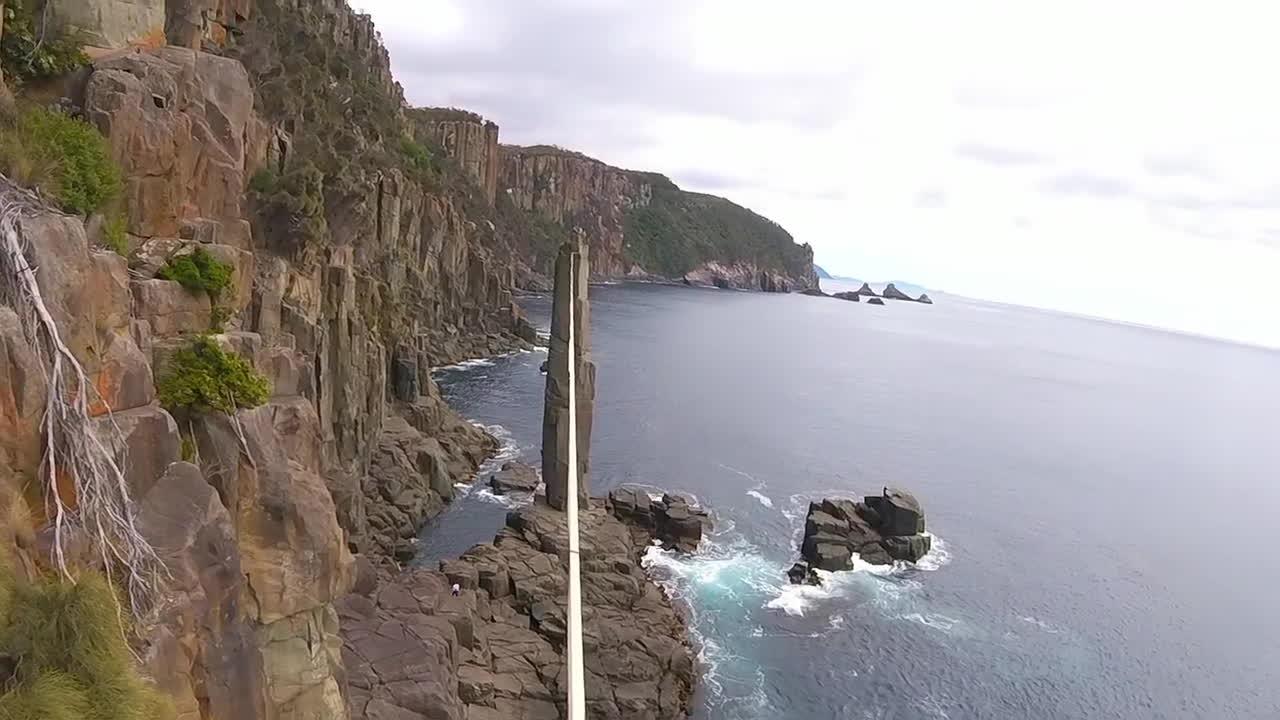 gifs, gopro, hero3, GoPro Awards: Slackline the Moai Tower GIFs