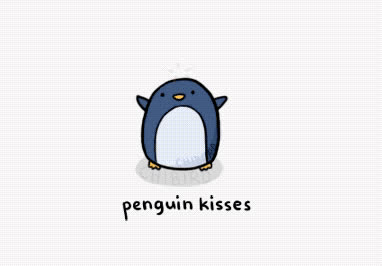 cute, heart, i, kisses, love, penguin, sweet, you, Penguin kisses GIFs