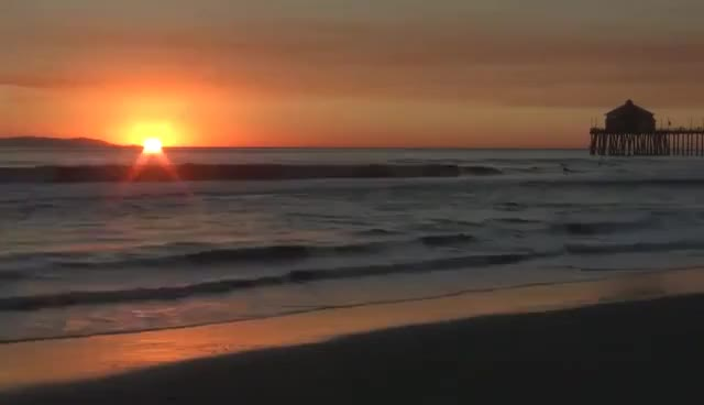 "Watch and share Huntington Beach, California ""Ocean Waves Crashing ""Relaxation Meditation"" GIFs on Gfycat"
