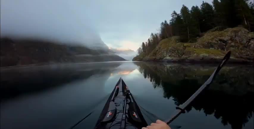 nature, nature, Norway, kayak, outdoors, Kayaking in Norway GIFs