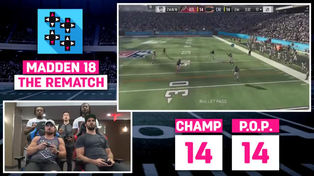 AJ, Falcons, PS4, Seth, Sports, bears, champ, championship, gaming, madden, nfl, prince, rematch, rollins, styles, tournament, upupdowndown, wwe, MADDEN 18 - SETH ROLLINS vs. AJ STYLES II: THE REMATCH GIFs