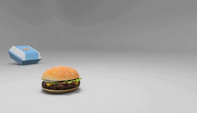 burger, cheeseburger, food, Burger Box - Animated Short GIFs