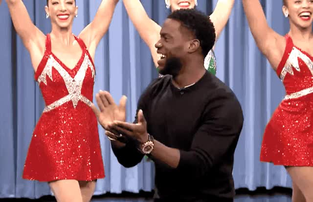Watch this kevin hart GIF by GIF Queen (@ioanna) on Gfycat. Discover more applause, bravo, entrance, epic, fallon, good, happy, hart, jimmy, job, kevin, kevin hart, rockettes, show, support, tonight GIFs on Gfycat