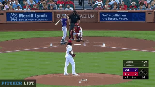 Watch Martinez SL 7-30-18 GIF on Gfycat. Discover more Colorado Rockies, St.Louis Cardinals, baseball GIFs on Gfycat
