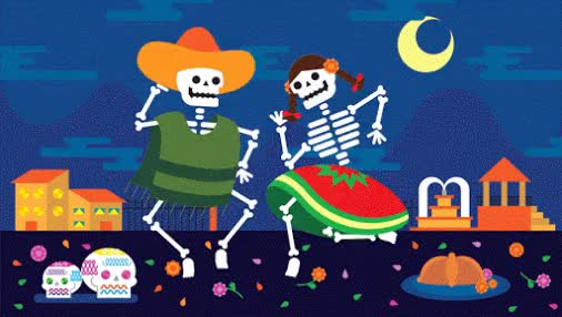 Watch and share Google GooglePlus Mexico Coverphoto DiaDeMuertos Animacion SALIDA GIFs on Gfycat