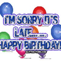 Watch and share Happy-belated-birthday-myspace-glit animated stickers on Gfycat