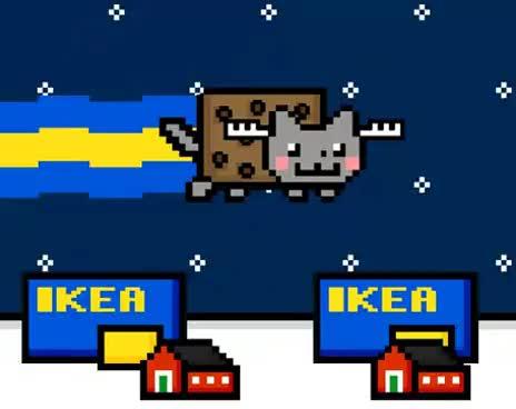 nyan cat, Swedish Nyan Cat [Original] GIFs