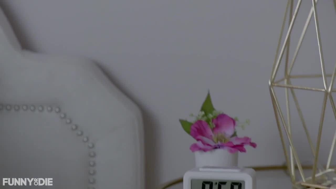 alarm, funny or die, funnyordie, katy perry, katy perry votes, katyperry, katyperryvotes, morning, sleep, vote, wake up, Morning Alarm - Katy Perry Votes Naked GIFs