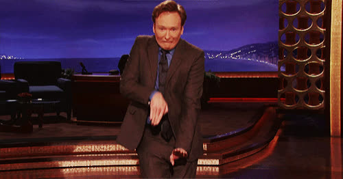 come, coming, conan, funny, i'm, joke, my, o'brien, obrien, omw, on, on my way, quiet, shhh, steps, way, On my way GIFs