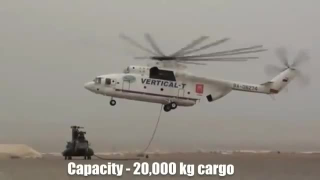 Watch Giant Helicopter (Mil Mi-26) picks up a The Boeing CH-47 Chinook GIF on Gfycat. Discover more ch-47, chinook, mil mi-26 GIFs on Gfycat