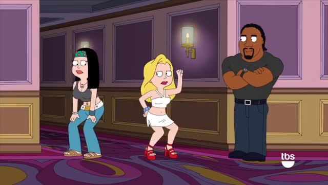 Watch American Dad: Hailey's Dance Off [CLIP] | TBS GIF on Gfycat. Discover more AmericanDad, Sitcom, twerking GIFs on Gfycat
