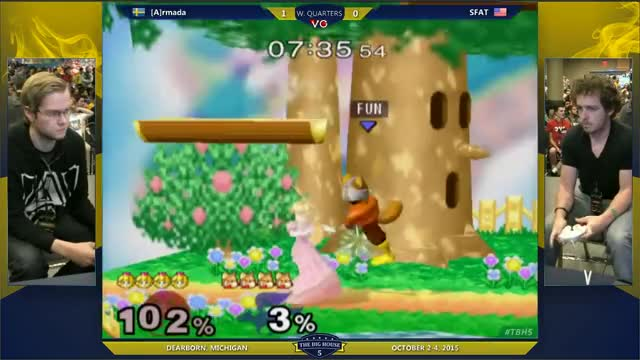 TBH5 - [A] Armada (Peach) Vs. SFAT (Fox) SSBM Winners Quarters - Smash Melee